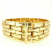 Bracelet Gold Solid 18k Made In Italy Semi-rigid Vintage Yearsand039 50