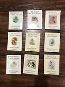 Rare Vintage Lot Of 9 Beatrix Potter Books And 14 Figurines F. Warne And Co