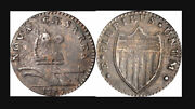 1787 New Jersey Copper. Maris 32-t W-5100. Rarity-2. Outlined Shield.