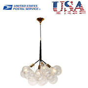 Max 60w Bubble Glass Chandelier Pendant Lamp Ceiling String Adjustable