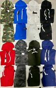 Polo Sweat Suit Zip Up Hoodie Top And Bottom Complete Set Brand New