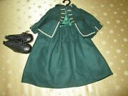 American Girl Felicity Riding Outfit Wool Waistcoat With Skirt And Shoe Boots