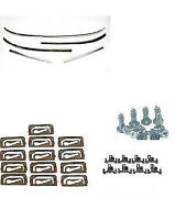 1967-1969 Camaro Convertible Windshield Molding Kit With Clips 33-847933-1