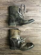 A Diciannoveventitre Lace Up Boots Military Style Size 7 Augusta Leather Tall