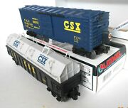 Lionel 2 Csx Cars. Box Car / Light And Gondola / Coil Cover With Box 4-pictures