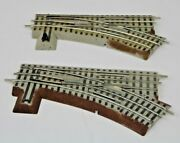 Lot Of 2 Lionel 6-12018 Rh Right Hand O36 Manual Track Switch Fastrack O Gauge