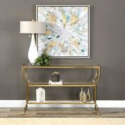 Deline Modern Forged Iron Xxl 54 Console Sofa Table Uttermost 24668