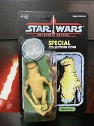 Star Wars Reproduction Vintage Potf Amanaman Carded Figure With Coin Unpunched R