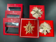 Set/3 Baldwin Gold Finished Brass Star Ornaments, Original Boxes, Good Condition