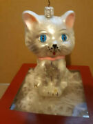 Nordstrom At Home Glass Cat Ornament Made In Poland. With Box