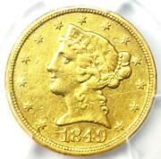 1849-d Liberty Gold Half Eagle 5 - Certified Pcgs Xf Details - Dahlonega Coin
