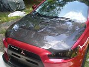 2008-2014 Mitsubishi Evolution X Oe Style Carbon Fiber Functional Cooling Hood