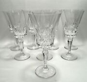 4 + 4 Free Cambridge By Mikasa Water Goblet Wine Glass Cut Crystal Stems 91143