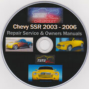 Chevy Ssr 2003 -2006 Ultimate Manual Collection Service Manuals Plus Extras