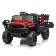12v Kids Ride On Car Tractor Truck Music Fun Trailer Remote Guide Boy Girl Gift
