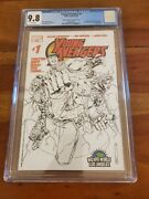 Young Avengers 1 Cgc 9.8 Wizard World La Sketch Variant Cover 1st Ya