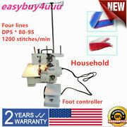 Fn2-4d Four-thread Overlock Serger Machine With Pedal 1200 Stitches/min