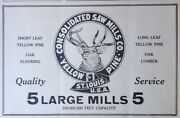 1919 Adg7consolidated Saw Mills Co. St.louis Yellow Pine Mills