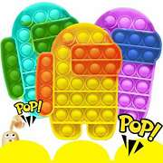 New Among Us Push Pop Silicone Sensory Fidget Toy Anxiety Stress Bubble It Game