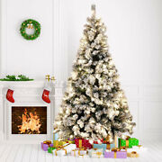 8 Modes Warm Led Pre Lit Luxury Artificial Pine Christmas Tree 4.5ft 6ft 7f