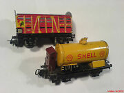 Marklin H0 / 00, 2 Old Tin Cars For Play Or Repair ,metal , Shell 374 And 386