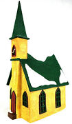 Department 56 Merry Makers Christmas Monk Village Large Mountain Chapel 15 Tall