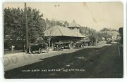 Rppc Union Depot River Ave Railroad Station Hot Springs Sd Real Photo Postcard