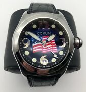 Corum Bubble Watch Limited Edition American Flag In God We Trust Engraving