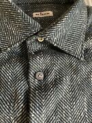 2495 Kiton Men Cashmere Shirt Hand Made In Italy Xl Over Shirt