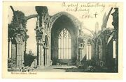 View Of The Ruins Of The Gothic Church Melrose Abbey Chancel Scotland Postcard