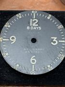 Vintage Elgin Military 8 Days Aircraft Clock Dial Marked Af Us Army An 5743-1