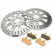 Polished Od 11.5 Front Brake Rotors Pads Electra Glide Ultra Classic Road King