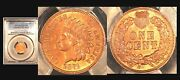 1871 1c Rrae Pure Red Color Pcgs Unc Details Cleaned-indian Head Cent