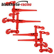 Ratchet Chain Load Binder 4 Pack 3/8-1/2 Chain Hook Tie Down Rigging Equipment