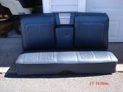 1964 Blue Grand Prix Blue Rear Seats Beautiful Covers ,frames And Speaker Assembly