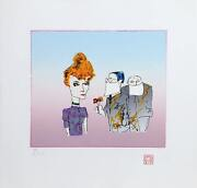 John Lennon Suitors Lithograph On Arches Signed And Numbered By Yoko Ono In P
