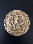 1938 Society Of Medalists 17th Issue Bronze Medal Pleasure Pain Protagonist