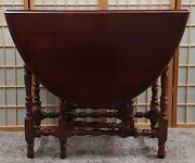 Vintage English Gate Leg Table Drop Leaf Excellent Detailed Rare Maybe 1920and039s
