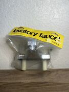 Two-handle Lavatory Bathroom Faucet Clear Knobs Model Vtg Nos Nib Made In Usa