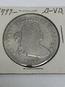 1797 Draped Bust Small Eagle Silver Dollar Coin 10 Stars Left 6 Right