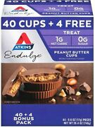 Atkins Endulge Peanut Butter Cups Pack Keto Friendly 44 Ct.