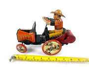 Marx Tin Lithographed Windup Cowboy Whoopee Car