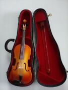 Collectible Miniature Violin With Bow And Case - 9 1/2 Violin - 11 Case