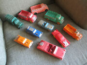 Vintage 50s 60s Group Of 9 Various Auburn Rubber Toys Cars Trucks - Toy Vehicles