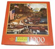 New Sealed Charles Wysocki Sealed Puzzles 1000 Pieces Wooden You Like A Ride