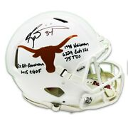 Ricky Williams Autographed Texas Longhorns Riddell Speed Authentic Full Size Hel