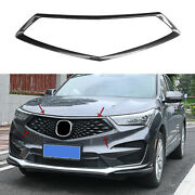 Abs Carbon Fiber Front Bumper Center Hood Grill Mesh 1 For 2019-2021 Acura Rdx
