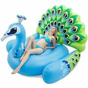 Inflatable Peacock Pool Float Fun Beach Floaties Swim Party Toys