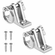 Amadget 2 Pack Bimini Top 90anddegdeck Hinge With Removable Pin 316 Stainless Stee...