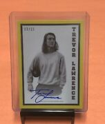 2021 Topps Trevor Lawrence Auto Rc D/10 49-a Autograph On-card Rookie Sp 3/10